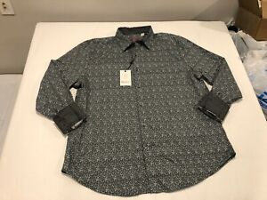 NWT $198.00 Robert Graham Mens Dever LS Buttondown Blue Diamond Sz LARGE