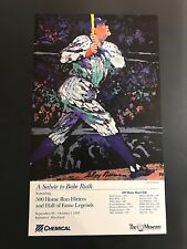 Babe Ruth LeRoy Neiman Double Sided Poster With Stats NY Yankees HOF Legend