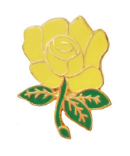 Hybrid Tea Rose Yellow Pin Badge