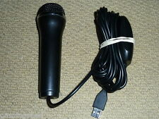 PLAYSTATION 3 PS3 NINTENDO WII XBOX 360 USB MICROPHONE WIRED MIC Logitech Black