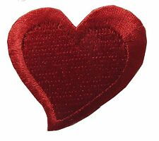 "#3109 1 3/4"" Red Heart Embroidery Iron On Applique Patch"