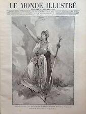 LE MONDE ILLUSTRE 1892 N 1838 OPERA COMIQUE: Mlle MARIE DELNA dans LES TROYENS