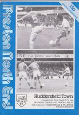 Football Programme>PRESTON NORTH END v HUDDERSFIELD TOWN Aug 1978