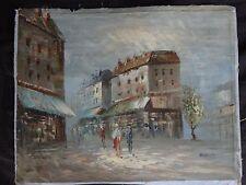 Grande huile sur toile Signé BURNED 54x42cm painting signed