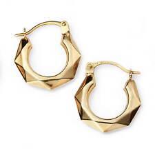 9ct Yellow Gold Diamond Cut Hoops