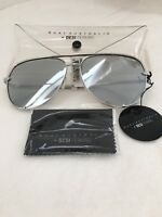 New Quay Australia Desi Perkins High Key Aviator Mirrored Women Sunglasses