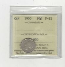 1900  , ICCS  Graded Canadian,  10  Cent, **F-12**