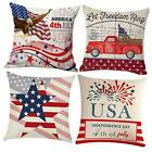 4th of July Pillow Covers 18x18 Patriotic Pillow Covers Independent Day Throw