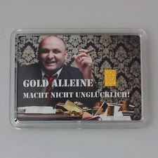 1 Gramm Gold 999,9 + Zertifikat ► 1g Feingoldbarren ► Zigarre Chef Glück Firma