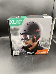 Bolle Snowboard or Ski Hybrid Helmet with Travel Bag (Black/Red, X-Large)