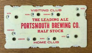 "1910 ""Portsmouth Brewing CO.""  Baseball Celluloid Scorer"