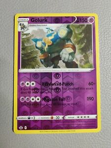 Golurk Reverse Holo   NM/M   SWSH Chilling Reign 066/198   Pokemon