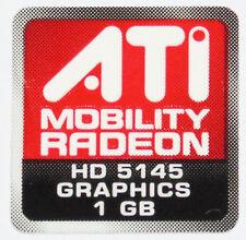 ATI MOBILITY RADEON HD 5145 1GB  STICKER LOGO AUFKLEBER 16x16mm (414)