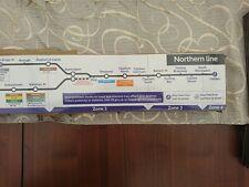 Original London Underground Northern Line Map unused