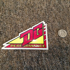 NOS RARE Vintage DG Performance Sticker Decal Motocross Motorcycle 1990's 90 Red
