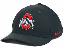 Ohio State Buckeyes Nike Classic SWOOSH Graphite Flexfit Fitted S M Cap Hat 347592361d6d