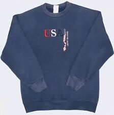 Vintage Crewneck Sweater USA United We Stand Embroidered Fruit Of Loom Sz Medium