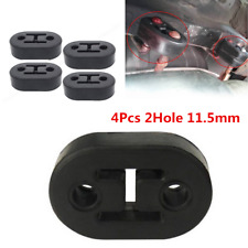 4Pcs Rubber Car Exhaust Tail Pipe Mount Bracket Hanger Insulator 2 Holes Durable