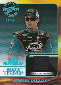 2013 Ignite Hot Threads Blue Holofoil #HT-AD Austin Dillon 6/99 HTF!!