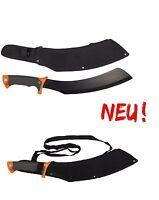 """Machete, """"Samurai"""", schwarz, mit Nylonscheide Kukri Jungle Messer Haumesser NEU"""