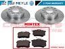 FOR AUDI A3 8P1 2.0 TDi 140 REAR MEYLE GERMANY PLATINUM DISCS MINTEX BRAKE PADS