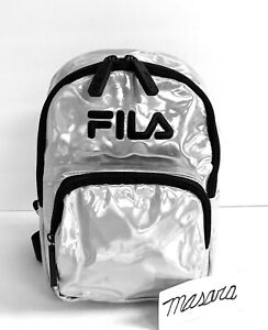 Unisex Fila Marceline Mini Backpack Metallic Silver