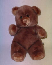DARK BROWN BEAR * BIG EYES * 15 INCH TALL * CUTE AND CUDDLY *
