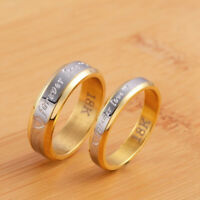 Stainless Steel Engagement Rings Forever Love Couple Ring Wedding Ring