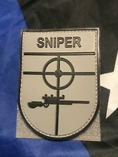GREY SNIPER Scope Crosshair SWAT Black Ops Tactical Morale 3D PVC PATCH Badge