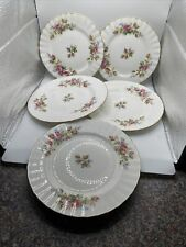 """3 x Royal Albert """"Moss Rose"""" large side plates 7inches & 2 Smaller 6.25 Inch's"""