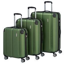 Travelite City verde 3 pzas. 4w trolley set 4 RAD viaje maleta de equipaje castillo ABS