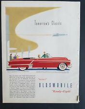 1952 red Oldsmobile 98 convertible car vintage ad