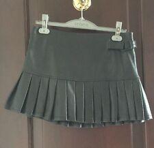 BEBE Pleated mini leather Skirt Black Lined size 4