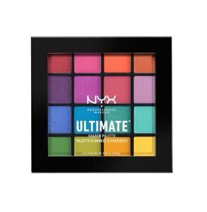 NYX Ultimate Shadow Palette Eyeshadow Powder 16 Colours #USP04 BRIGHTS Free Ship
