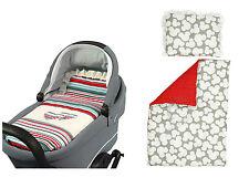 BASSINET Full Duvet Set Reversible PRAM Moses Basket - Mickey /white dots on red