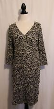 BLUE ILLUSION ~ Cream & Black Floral Tapestry Lace Layer Frilled Fitted Dress XL
