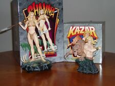 Shanna & Kazar +Zabu Statues