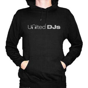 United DJs Hoody (BLACK) from DMC - Festival Clubbing DJ Street Wear