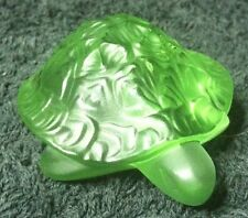 Lalique Green Turtle With Box