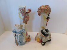 Fitz & Floyd Pilgrams Pride Pheasant 1990 Thanksgiving Vintage Candle Holders