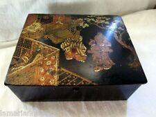 BOITE XIX EME PAPIER MACHE JAPONISANT BOX NAPOLEONIII JAPANESE FIGURINS