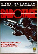 Dvd Sabotage di Tibor Takács con Carrie-Anne Moss 1996 Nuovo raro