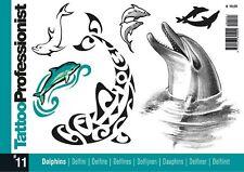 INSPIRE UK  TB41 PROFESSIONIST 11 DOLPHINS TATTOO FLASH DESIGNS UK STOCKIST