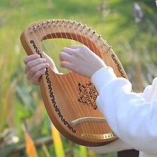 16 Saiten Harfe Mahagoni Holz mit Schraubenschlüssel Tolles Neujahrsgeschenk