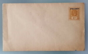CEYLON India stationery cover specimen on 2 c. ochre, unused
