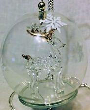 "Spun Glass Ball Hanging Christmas Ornament Atico International 2005 3.25"" Tall"