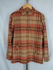 Pendleton Originals Plaid Elbow Patch Wool Shirt Jacket Size Medium
