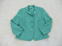 AKRIS Punto Blazer Womens Size 8 Green Wool Coat Jacket Office Casual Ladies