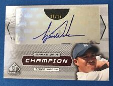 Tiger Woods 2003 Upper Deck SP Game-Used 'Marks of a Champion' Autograph # 03/15