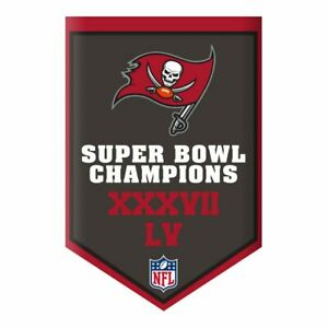 Tampa Bay Buccaneers 2020-2021 Super Bowl LV Champions Aminco Banner Magnet